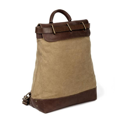 Heritage Waxed Brown Canvas Steamer Backpack