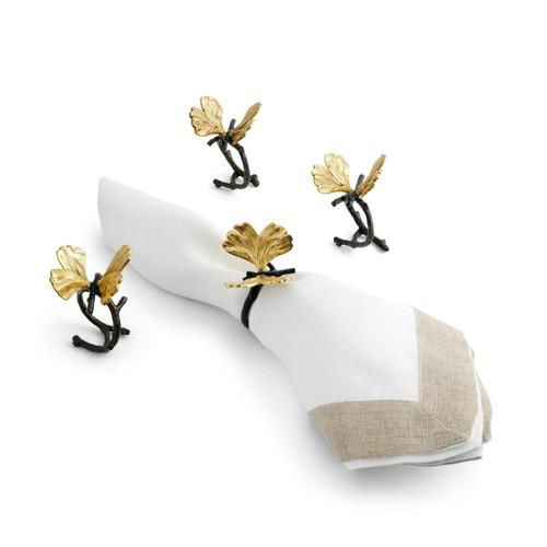 Butterfly Ginkgo Napkin Ring Set