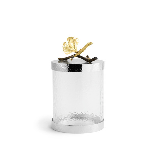 Butterfly Ginkgo Canister Small by Michael Aram
