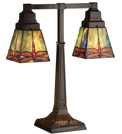 "19.5""H Prairie Dragonfly 2 Arm Desk Lamp 48203"