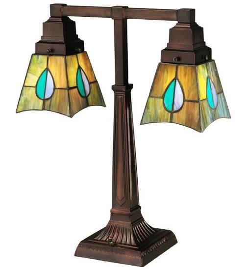 """19.5""""H Mackintosh Leaf 2 Arm Desk Lamp 24284-M"""