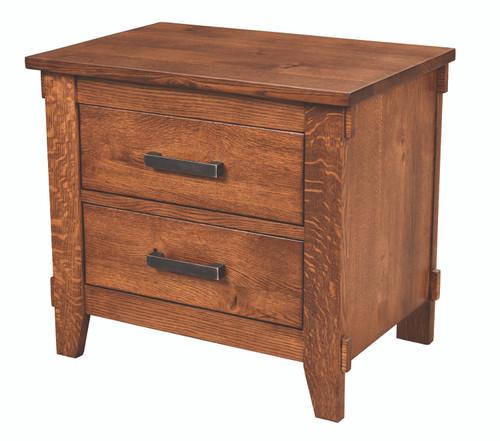 Hampton 2 Drawer Nightstand 1034