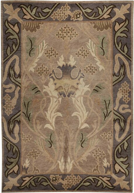 English Garden Silver Stickley Rug ( RU-1015)