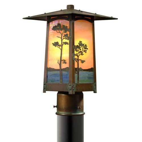 Monterey Pine Post Mount Light