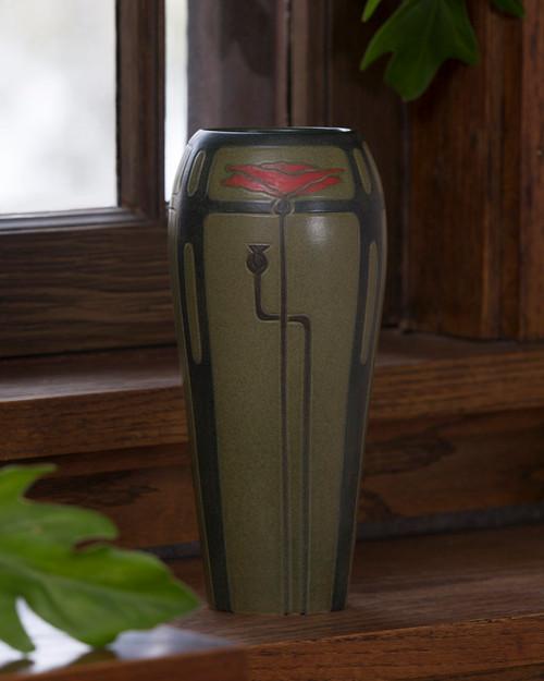 Lyrical Poppy Ceramic Chestnut Pottery Vase by Ephraim Pottery