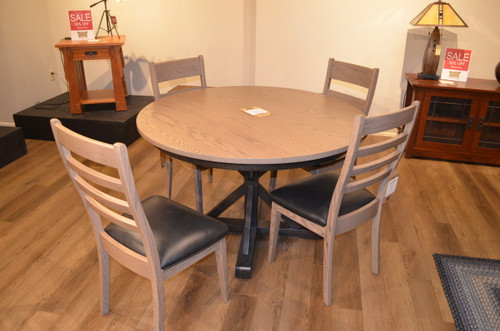 """48"""" Round Dining Table with four chairs by Canal Dover"""