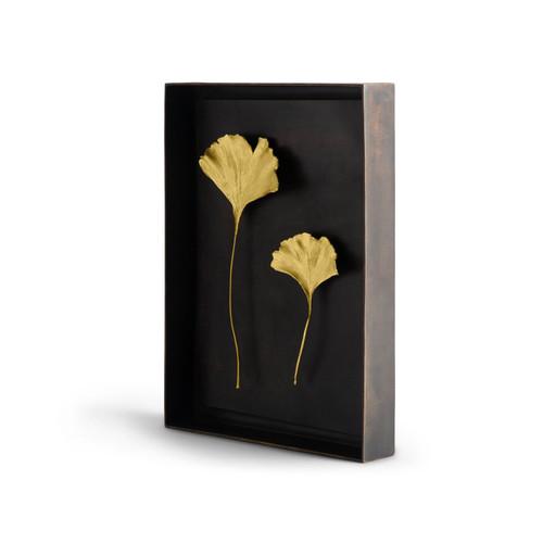 Ginkgo Gold Leaf Shadow Box by Michael Aram