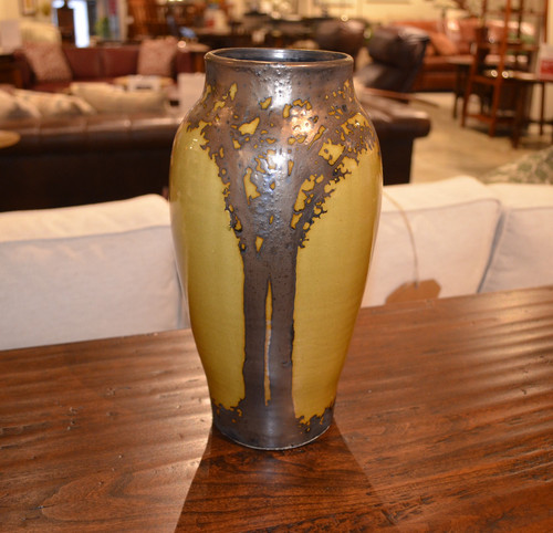 Large Gold Luster Vase by Hog Hill Pottery