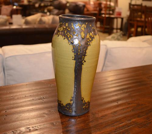 Medium Gold Bronze Luster Vase by Hog Hill Pottery