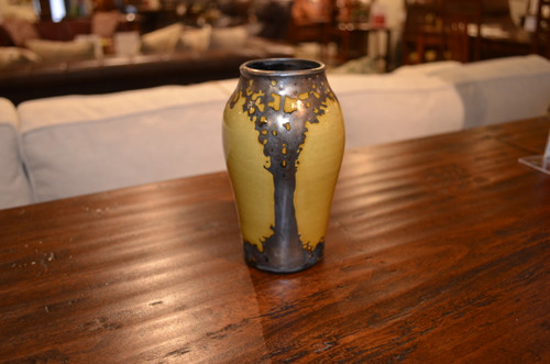 Small Gold Bronze Luster Vase by Hog Hill Pottery
