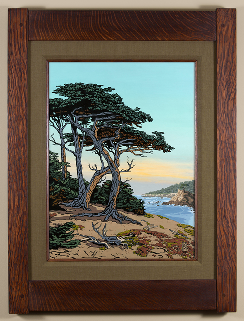 Seaside Monterey Cypress Seaweed Linen