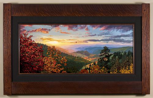 Smoky Mountain Autumn Coal Linen