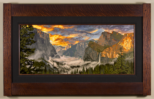 Radiant Yosemite Valley Print by Keith Rust