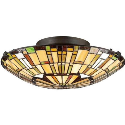 Tiffany Flush Mount Ceiling Light