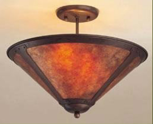 The Mica Lamp Company ML110 Ceiling Shade Fixture 17 Inch
