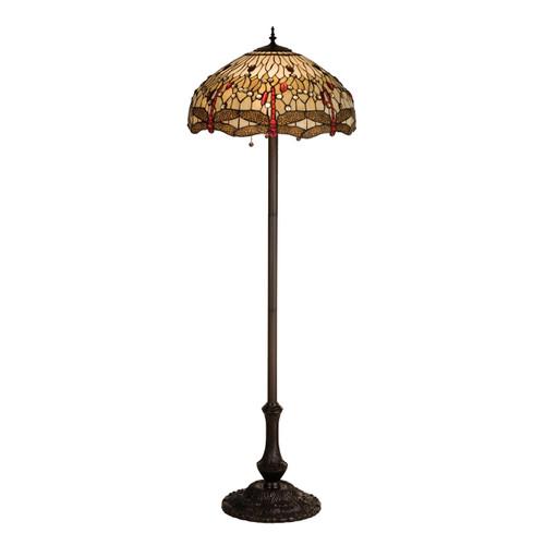 Tiffany Scarlet Dragonfly Floor Lamp 17473-M