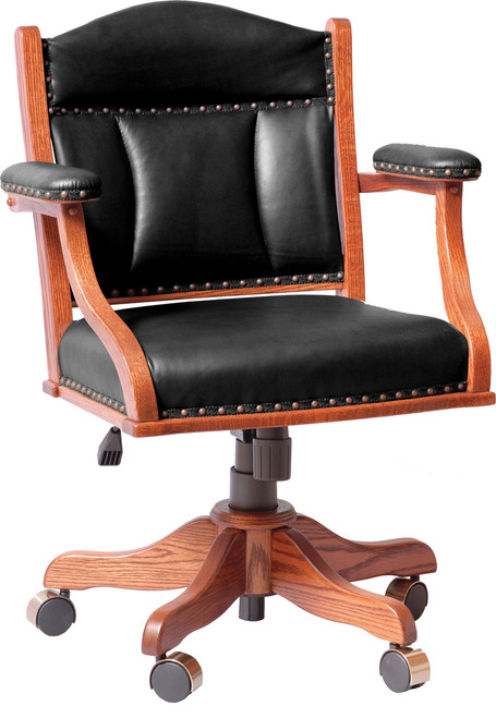 Low Back Desk Chair with Gas Lift DCL-BER-56
