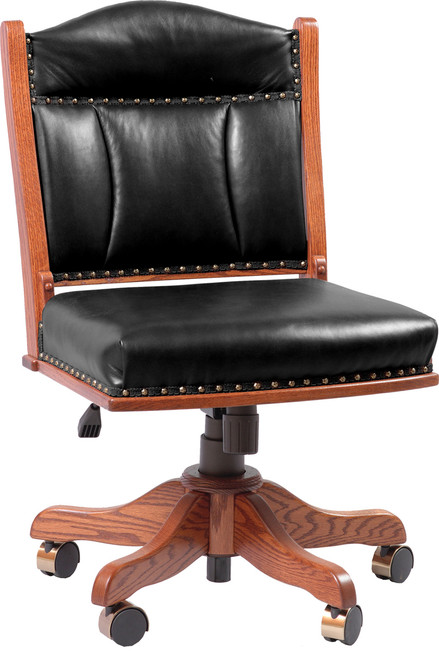 Low Back Desk Side Chair with Gas Lift SCL-BER-61