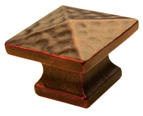 T10 Antique Copper Sq Knob