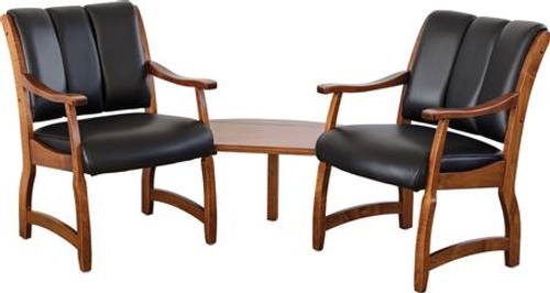 Midland 2 seat Client Chair with Corner Table MDM-BER