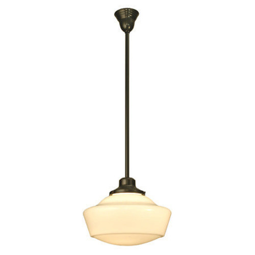 Schoolhouse Stem Hung Pendant with traditional shade 29944