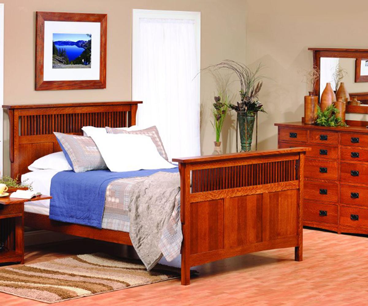 Image of: Mission Style Bedroom Furniture Craftsman Bedroom Furniture