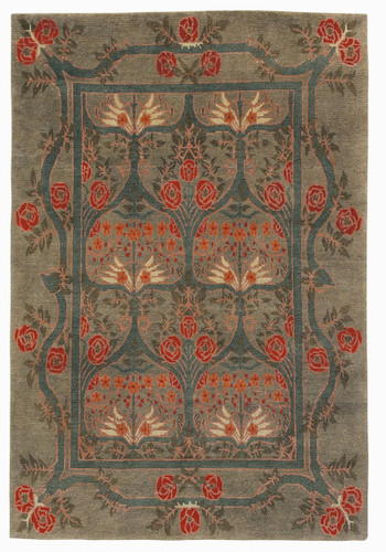 Craftsman Rambling Rose Sage Rug The Mission Motif