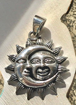 Sun and Moon Sterling Pendant