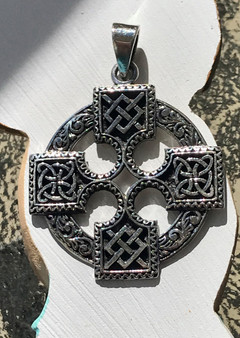 Celtic Cross Sterling Pendant