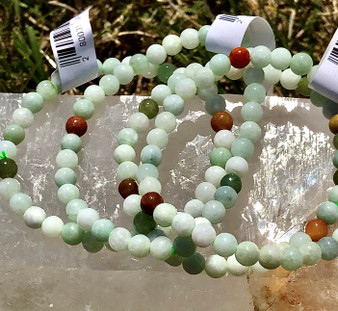6mm Mixed Jade Stretch Bracelet