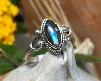 Labradorite Sterling Silver Ring Size 7
