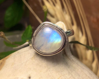 Moonstone Sterling Silver Ring 6.5