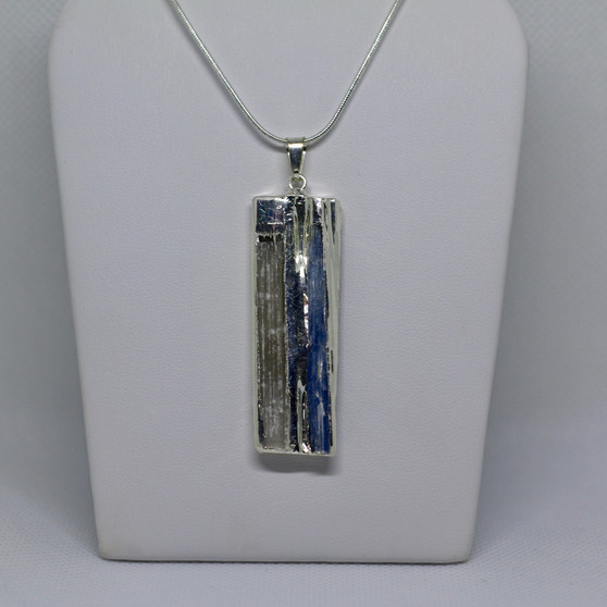Selenite and Kyanite Pendant