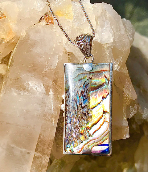 Abalone Mermaid Reversible Necklace