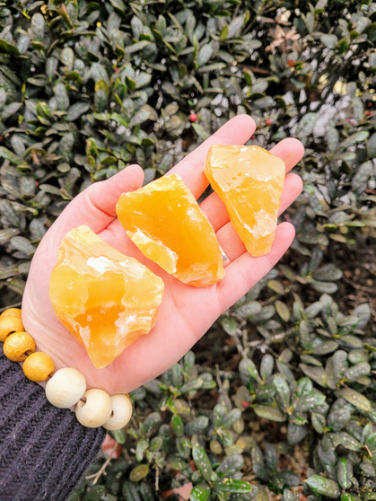 Orange Calcite Chunk