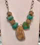 Stunning Druzy & Turquoise Sterling Silver Necklace