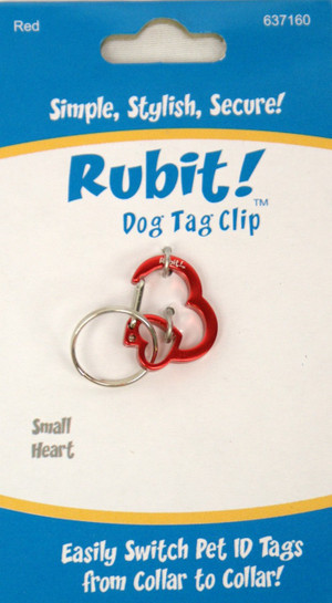 Small Heart Dog Tag Clip