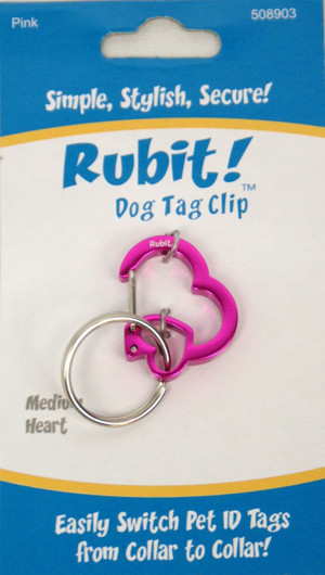 Medium Heart Dog Tag Clip