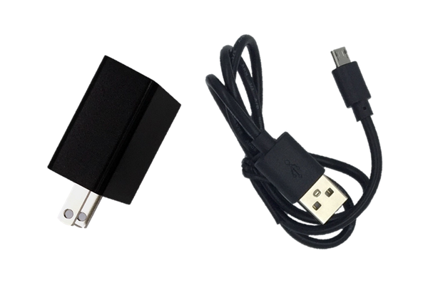 SABIT E-TAG comes with USB Recharge Cable and Wall AC Adapter