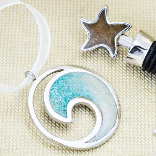 Starfish Wine Stopper - Gradient Turquoise
