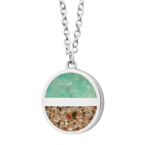 "Horizon Necklace Sterling 20"" Amazonite"