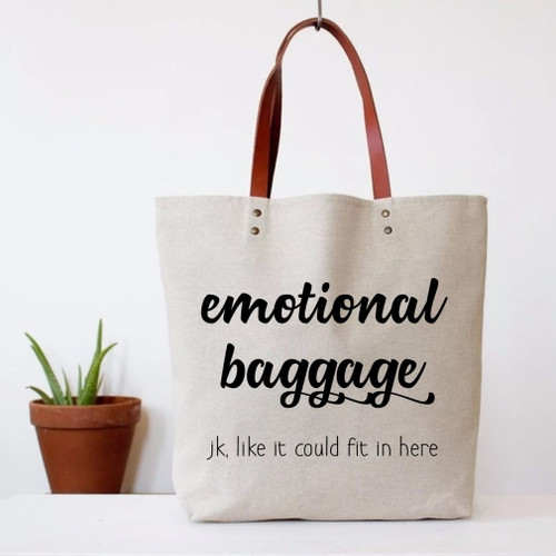 Tote Bag Emotional Baggage