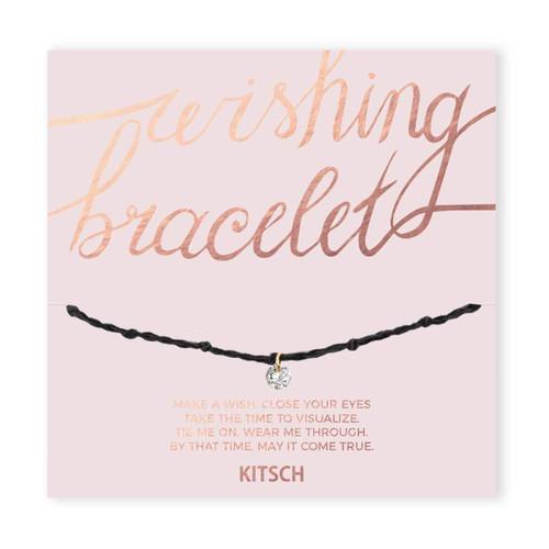 Wishing Bracelet - Black Crystal