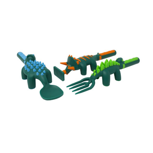 Set Of 3 Dino Utensils