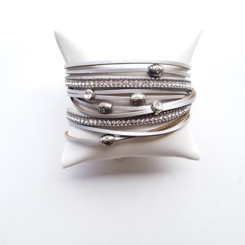 Badin Lake Wrap Bracelet Silver