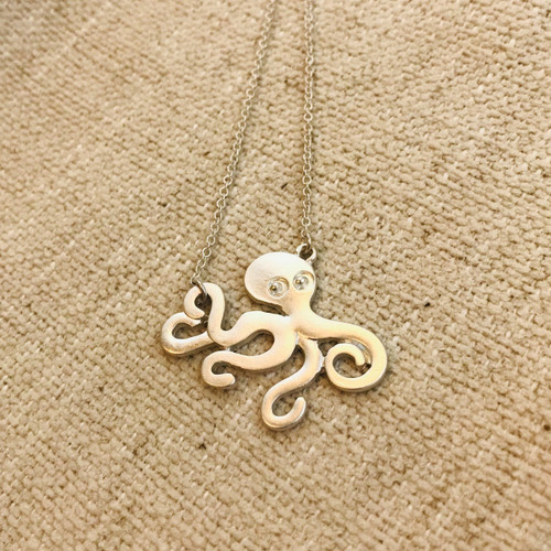 Octopus Necklace Silver