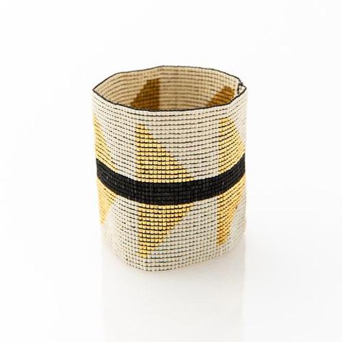 Triangles Luxe Bracelet Ivory