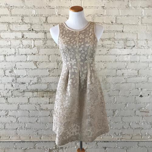 Pleather Floral Dress