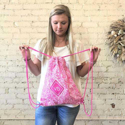Drawstring Backsack Eden Pink
