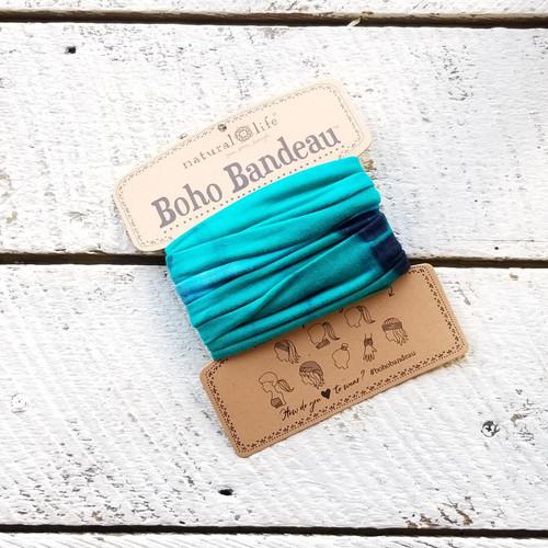 Boho Bandeau - Tie Dye Turq Blue